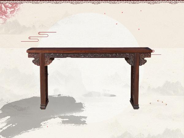 老挝大红酸枝西番莲平头案