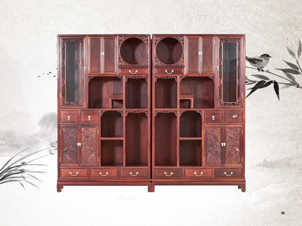 老挝红酸枝多宝柜