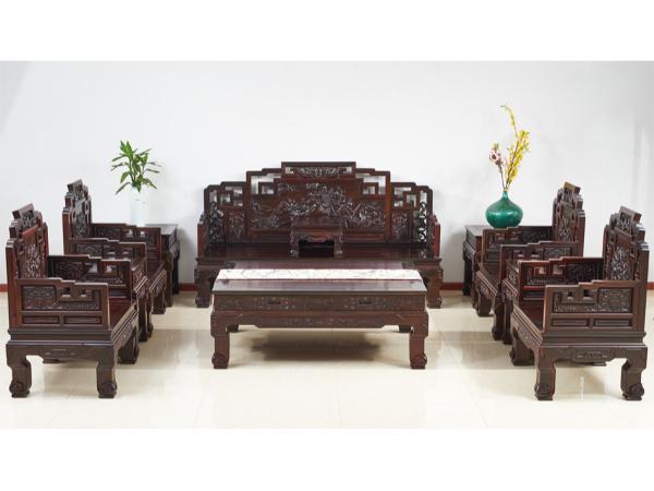 老挝大红酸枝【交趾黄檀】严选老料鸿福沙发