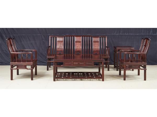 老挝大红酸枝【交趾黄檀】明式沙发