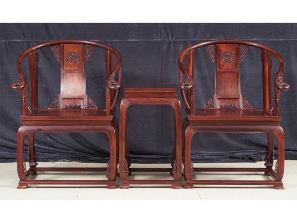 老挝花枝【红酸枝】皇宫圈椅