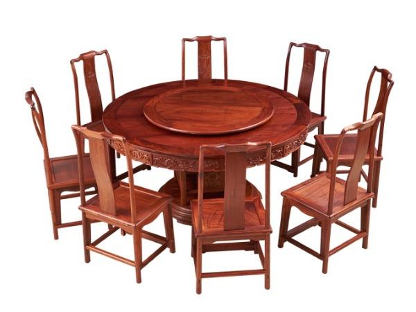 缅甸花梨【大果紫檀】160圆餐桌