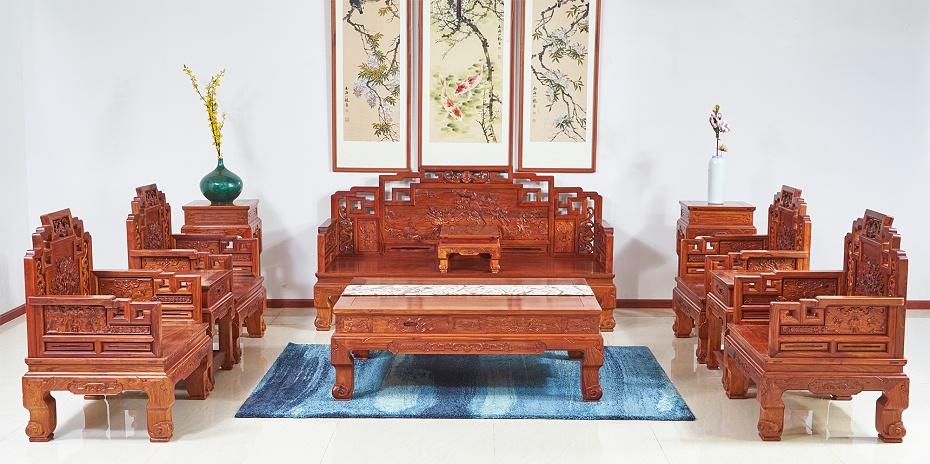 缅甸花梨木沙发