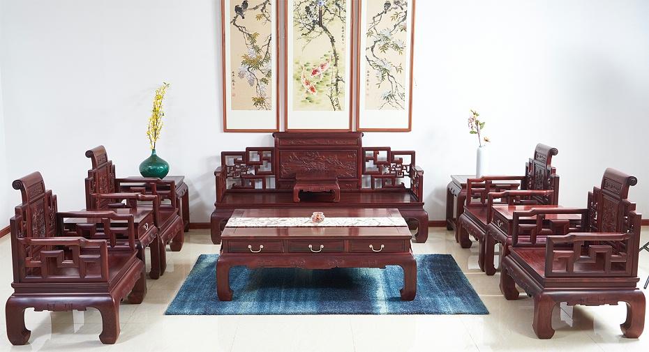 老挝红酸枝沙发